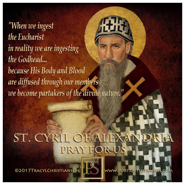 Happy Feast Day  Saint Cyril of Alexandria  Doctor of the Church  376-444  Feast...
