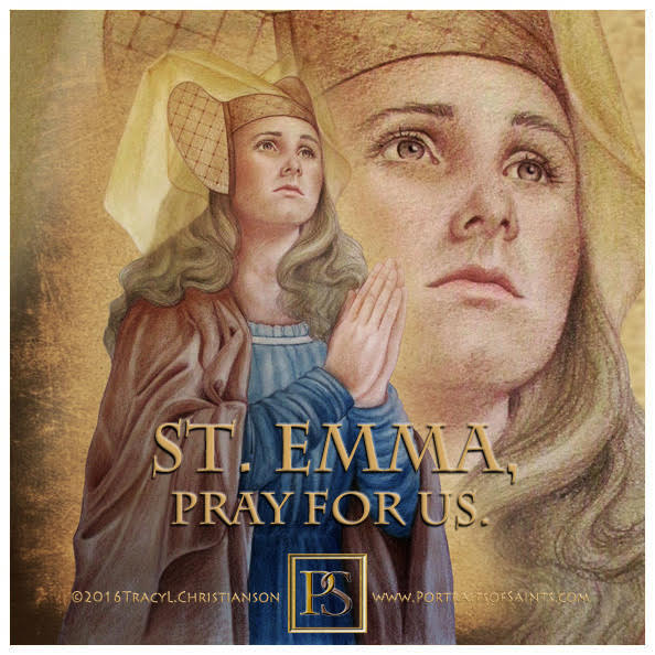 Happy Feast Day  Saint Emma of Gurk  980-1045   Feast day: June 27  Patronage: i...