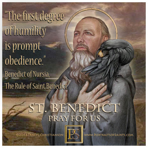 Happy Feast Day  Saint Benedict  480 - 543  Feast Day: July 11 (New), March 21 (...