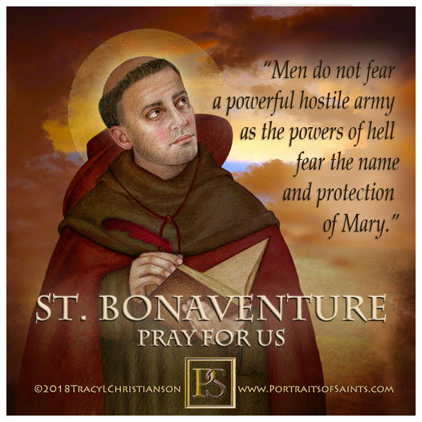 Happy Feast Day  Saint Bonaventure  Doctor of the Church  1221-1274  Feast Day: ...