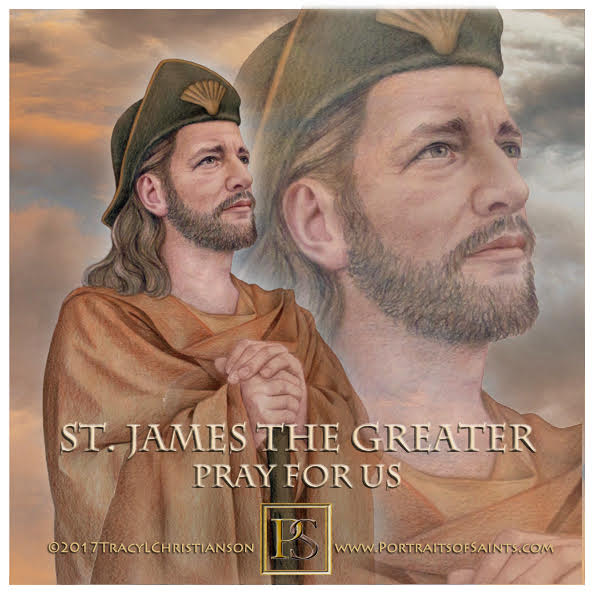 Happy Feast Day  Saint James the Greater  Died c.44   Feast day: July 25   Patro...