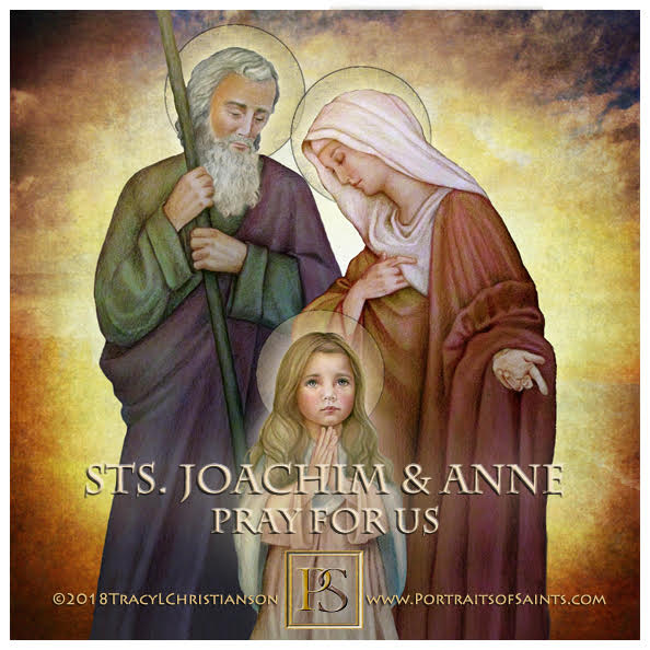 Happy Feast Day  Saint Joachim and Saint Anne with the Child Mary  Feast Day: Ju...