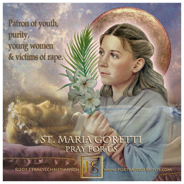 Happy Feast Day  Saint Maria Goretti  1890 - 1902  Feast day: July 6 (New), July...
