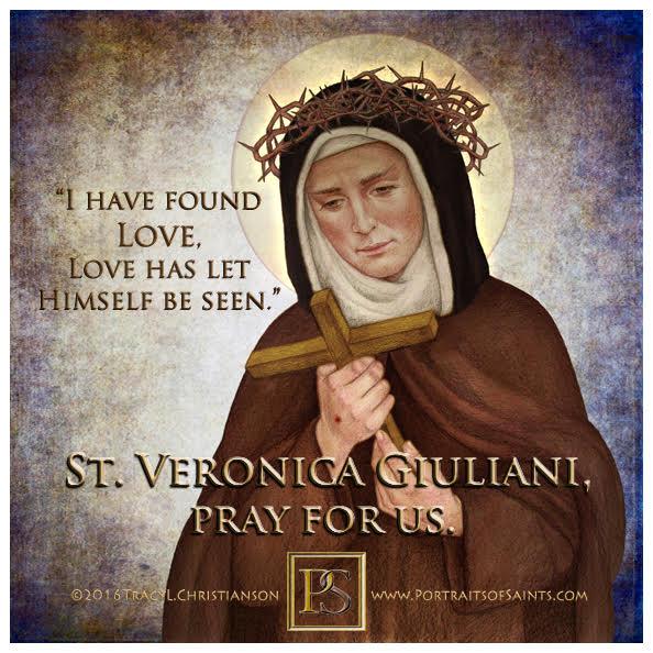 Happy Feast Day  Saint Veronica Giuliani  1660-1727  Feast day: July 9  Saint Ve...