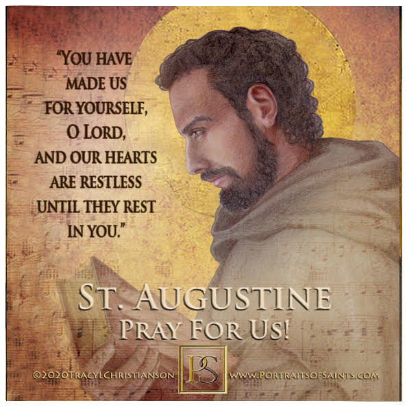 Happy Feast Day  Saint Augustine of Hippo  Doctor of the Church  354 - 430   Fea...