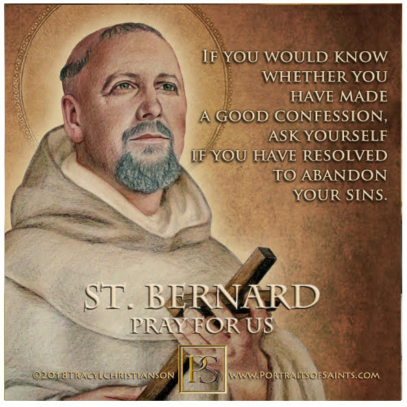 Happy Feast Day  Saint Bernard of Clairvaux  Abbot and Doctor of the Church  109...