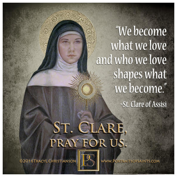 Happy Feast Day  Saint Clare of Assisi  1194-1253  Feast Day: August 11 (New), A...