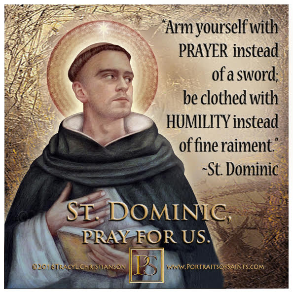 Happy Feast Day  Saint Dominic  1170 - 1221   Feast Day: August 8 (New), August ...