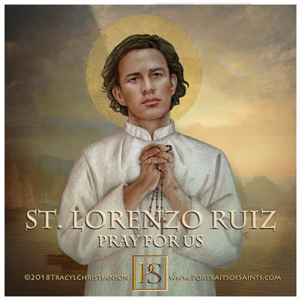 Happy Feast Day  Saint Lorenzo Ruiz  1600-1637  Feast Day: September 28  Patrona...
