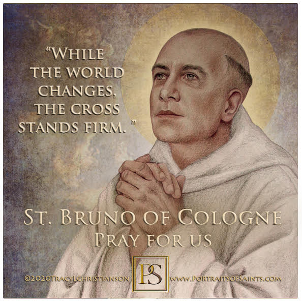 Happy Feast Day  Saint Bruno of Cologne  1030-1101  Feast Day: October 6  Patron...