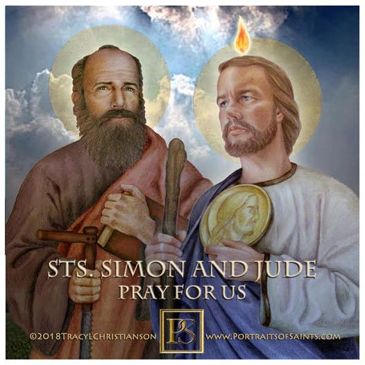 Happy Feast Day  Saint Jude Thaddeus and Saint Simon the Apostle  1st century ...