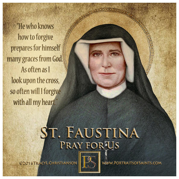 Happy Feast Day  Saint Mary Faustina Kowalska  1905 - 1938  Feast day: October 5...