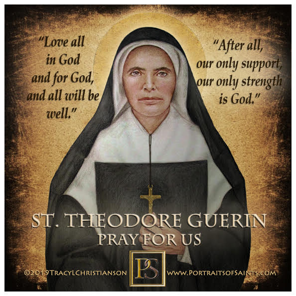 Happy Feast Day  Saint Mother Théodore Guérin  1798-1856  Feastday: October 3  P...