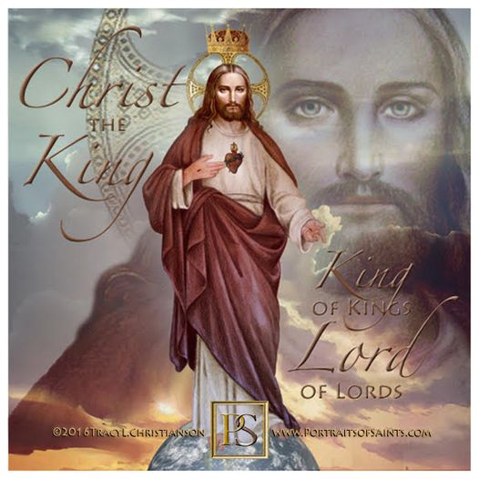 Happy Feast Day  Christ, King of the Universe  Jesus Christ is descended from ...