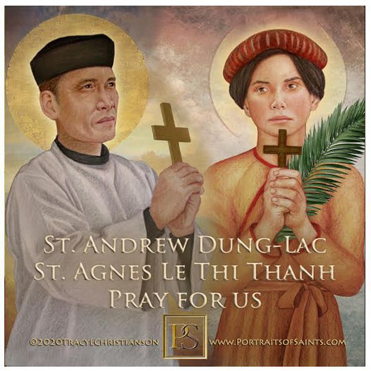 Happy Feast Day  Saint Andrew Dung-Lac and Companions  1795-1839  Feastday: No...