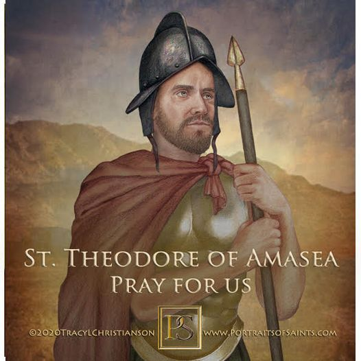 Happy Feast Day  Saint Theodore of Amasea (Theodore the Recruit)  Died 306  Fe...