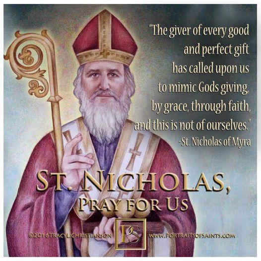 Happy Feast Day  Saint Nicholas   270 - 343  Feast Day: December 6  Patronage:...