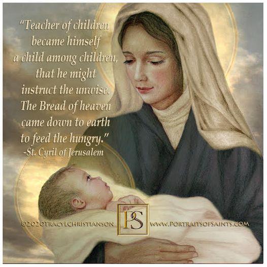 "Madonna and Child   ""Teacher of children became himself a child among children..."