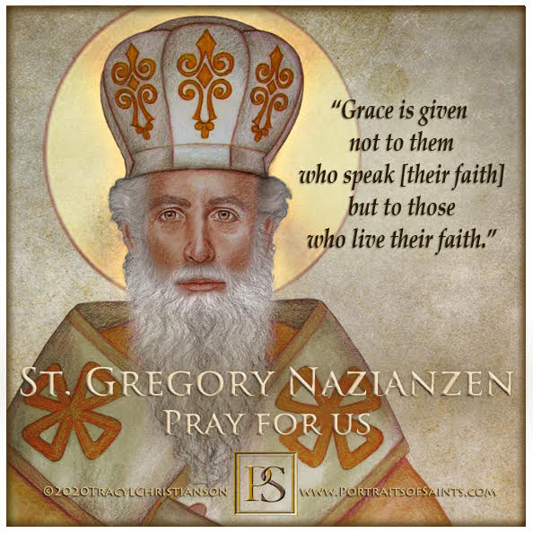Happy Feast Day  Saint Gregory  Nazianzen  Doctor of the Church  329-390  Feast ...