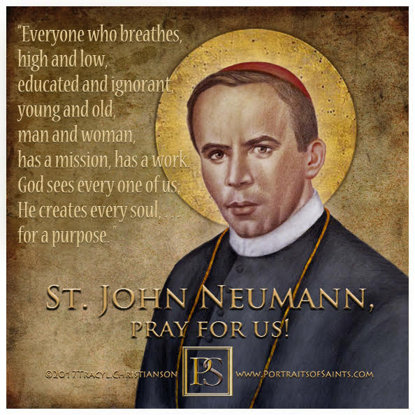 Happy Feast Day  Saint John Neumann  1811-1860  Feast day: January 5  Patronage:...