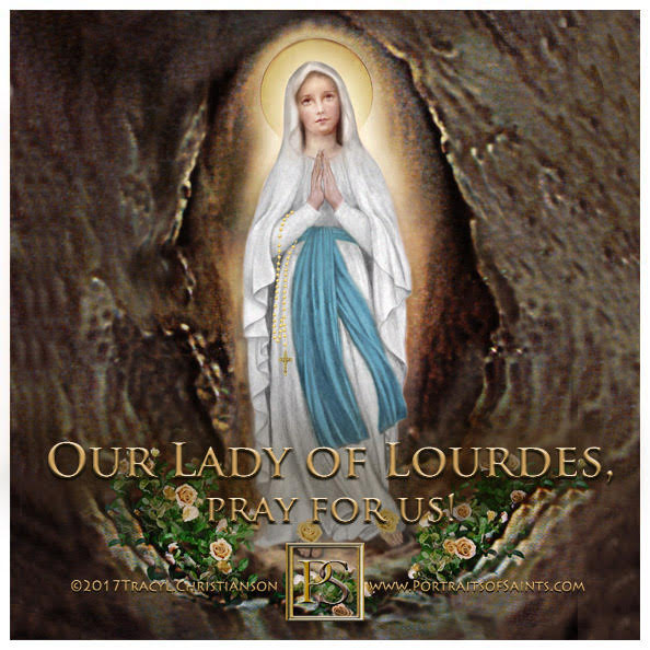 Happy Feast Day  Our Lady of Lourdes  Feast Day: February 11  Patron saint of bo...
