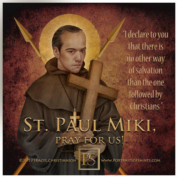 Happy Feast Day  Saint Paul Miki  1562 - 1597  Feast Day: February 6  Patronage:...