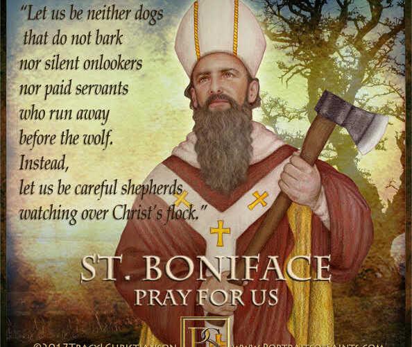 Happy Feast Day  Saint Boniface  675-754  Feast Day: June 5  Patronage: Brewers,…