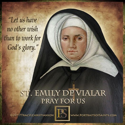 Happy Feast Day Saint Emily de Vialar 1797-1856 Feast Day: June 17 Patronage: si...