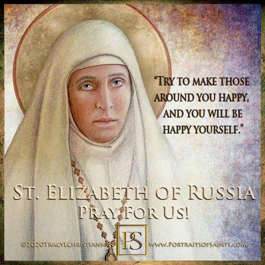 Happy Feast Day Saint Elizabeth Feodorovna of Russia (St. Ella) 1864-1918 Feast ...