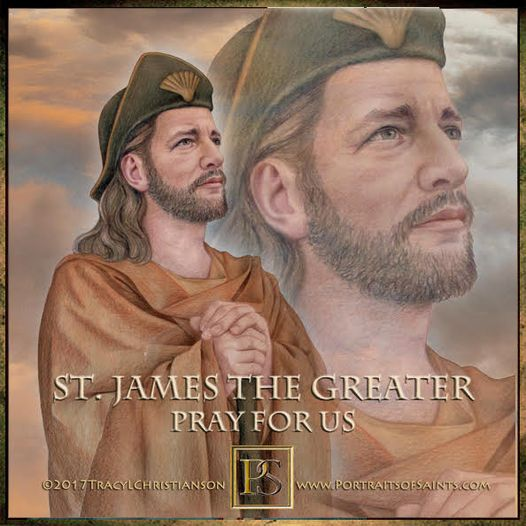 Happy Feast Day Saint James the Greater Died 44 AD Feast day: July 25  Patron of...