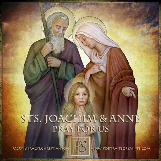 Happy Feast Day Saint Joachim and Saint Anne with the Child Mary Feast Day: July...