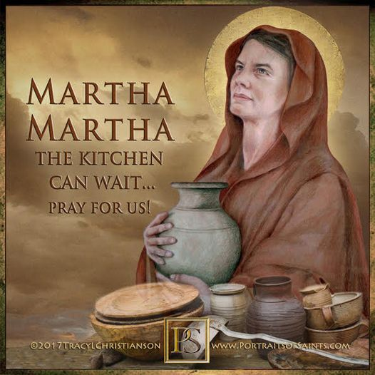 Happy Feast Day Saint Martha of Bethany Feast Day: July 29 Patronage: butlers; c...