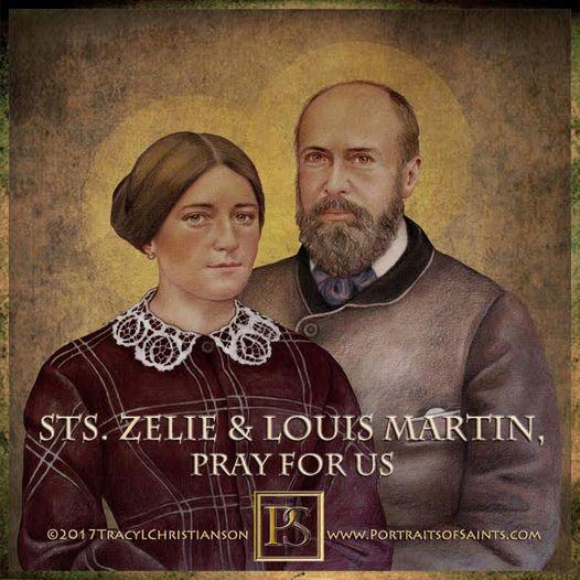 Happy Feast Day Saints Louis & Zelie Martin Feast day: July 12 Saint Louis Marti...
