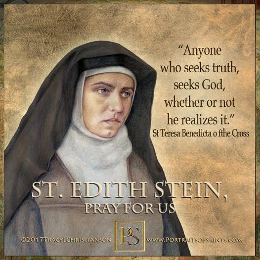 Happy Feast Day Saint Edith Stein St Teresa Benedicta of the Cross 1891 - 1942 F...