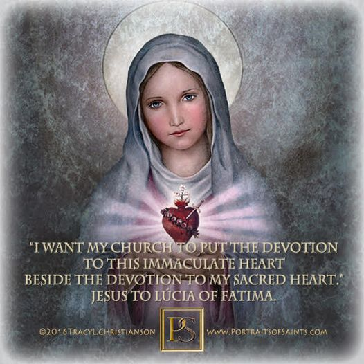 """The Month of the Immaculate Heart of Mary  """"I want My Church to put the devotion..."""