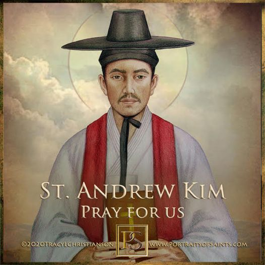Happy Feast Day Saint Andrew Kim 1821-1846  Feast Day: September 20 Patronage: K...