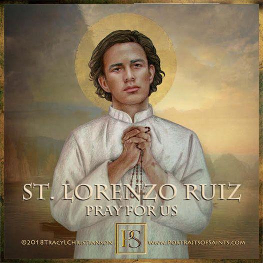 Happy Feast Day Saint Lorenzo Ruiz 1600-1637 Feast Day: September 28 Patronage: ...