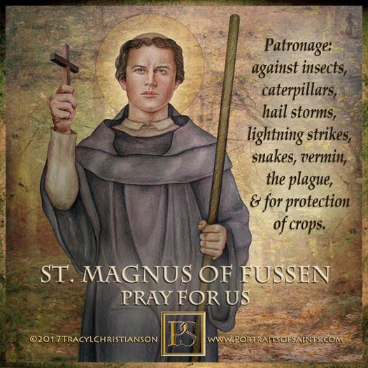 Happy Feast Day Saint Magnus of Fussen Died: c. 666 AD Feast Day: September 6th ...