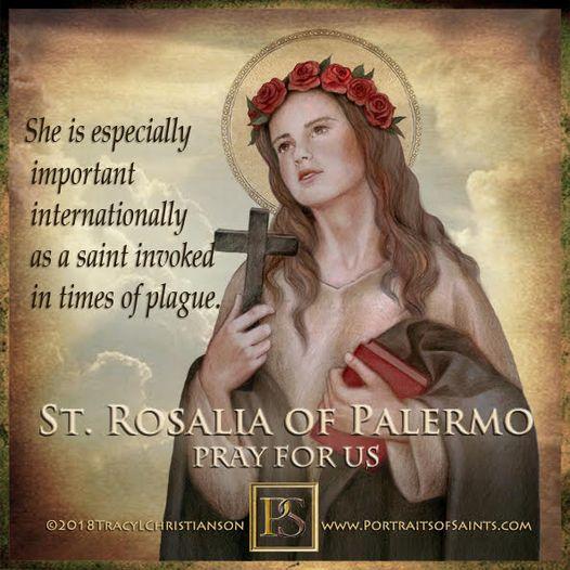 Happy Feast Day Saint Rosalia of Palermo 1130 - 1166 Feast day: September 4 Patr...