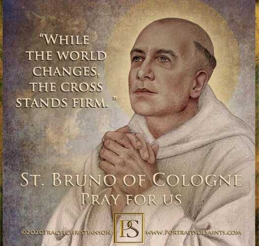 Happy Feast Day Saint Bruno of Cologne 1030-1101 Feast Day: October 6 Patronage:…