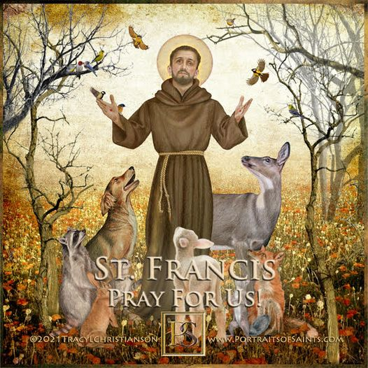 Happy Feast Day Saint Francis of Assisi 1181-1226 Feast day: October 4 Patronage...